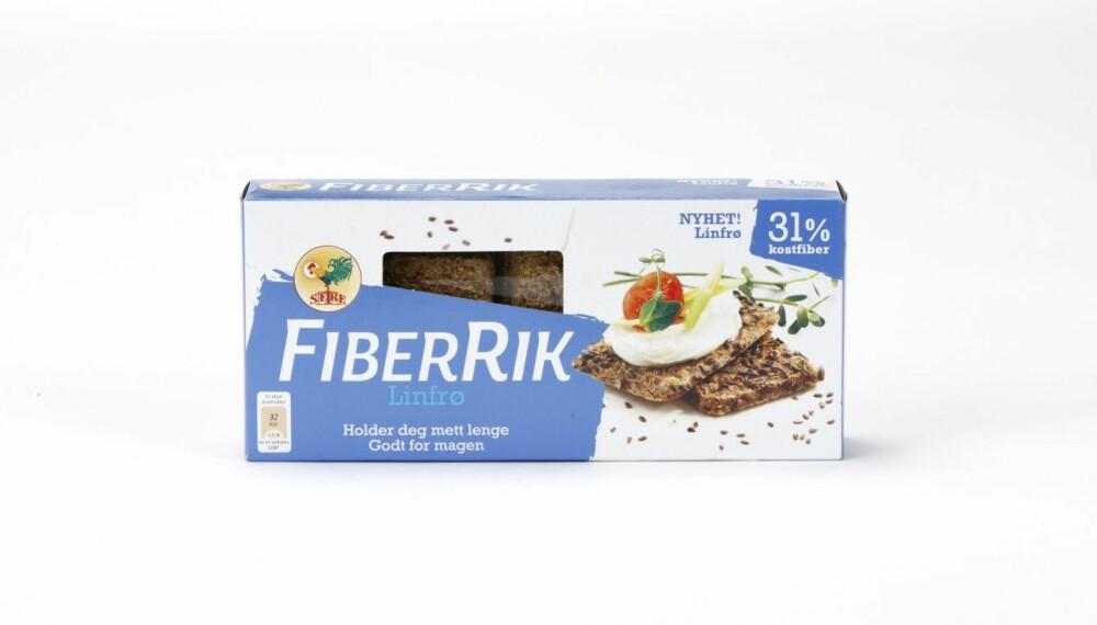 KNEKKEBRØD: Sætre FiberRik Linfrø