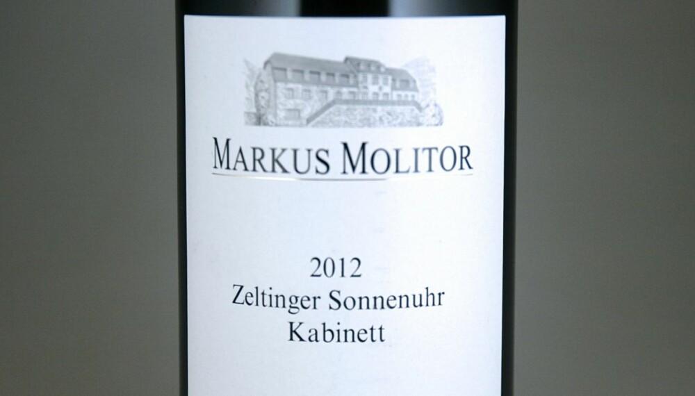 TIL SUSHI: Molitor Zeltinger Sonnenuhr Riesling Kabinett 2012.