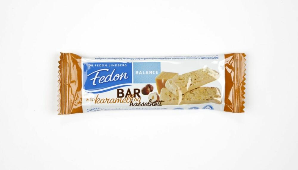 VINNER: Fedon Balance Bar med Karamell og Hasselnøtt er jevnt over best på alt.