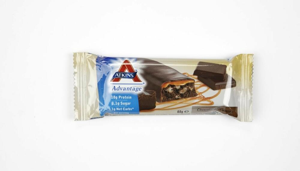NEST BEST: Atkins Advantage Chocolate Brownie får testens nest beste resultat.