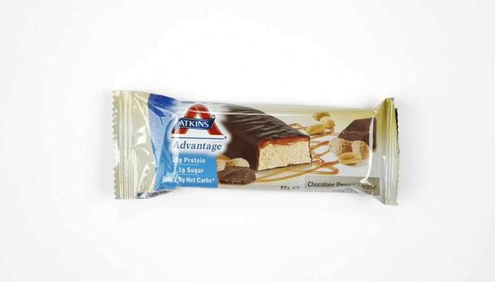 MYE PROTEIN: Atkins Advantage Chocolate Peanut Caramel inneholder hele 18 g protein.