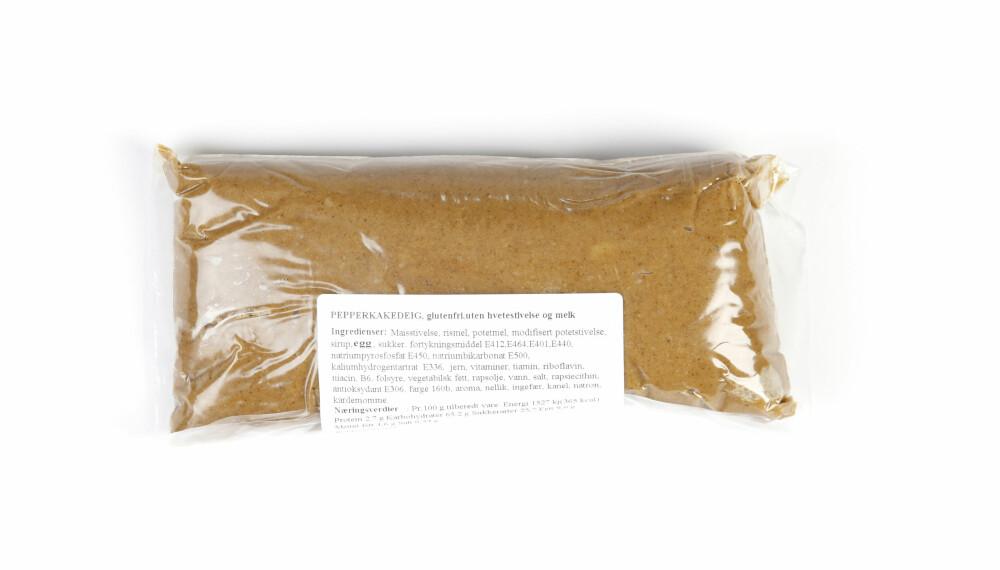BETO PEPPERKAKEDEIG: Denne deigen innholder ikke gluten eller melk, men har mye mettet fett.