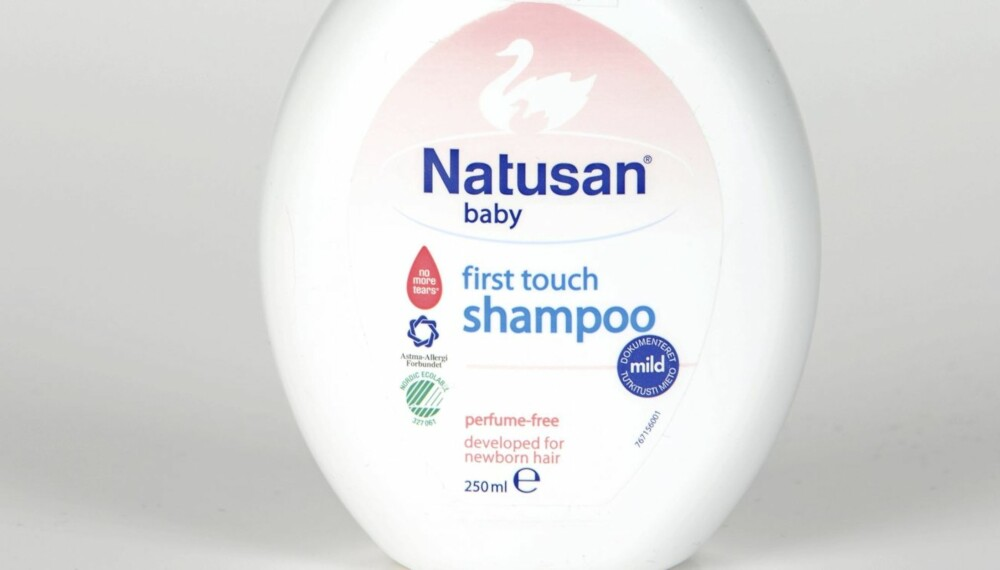 SJAMPO: Natusan Baby First Touch Shampoo anbefales uten forbehold.