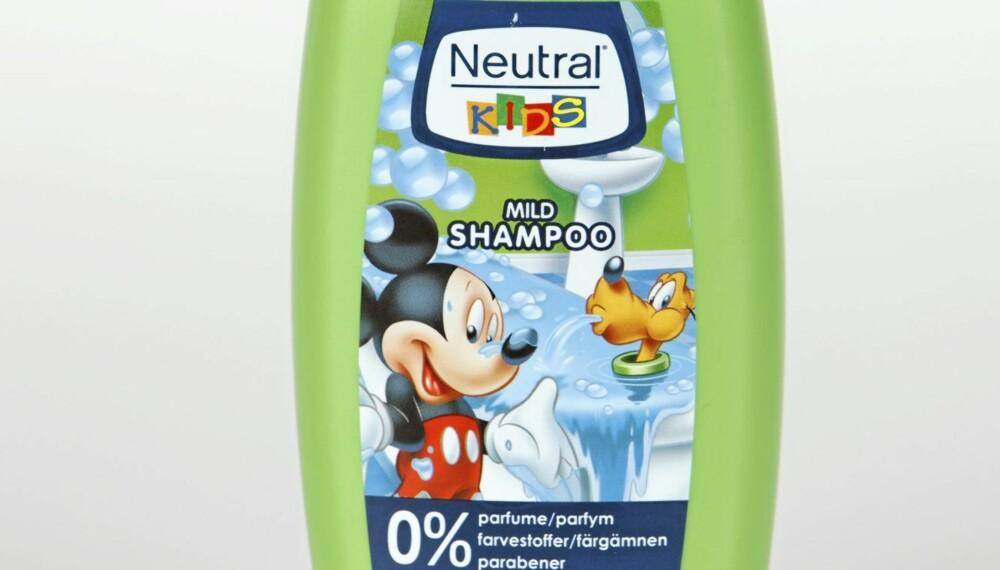 SJAMPO: Neutral Kids Mild Shampoo anbefales uten forbehold.