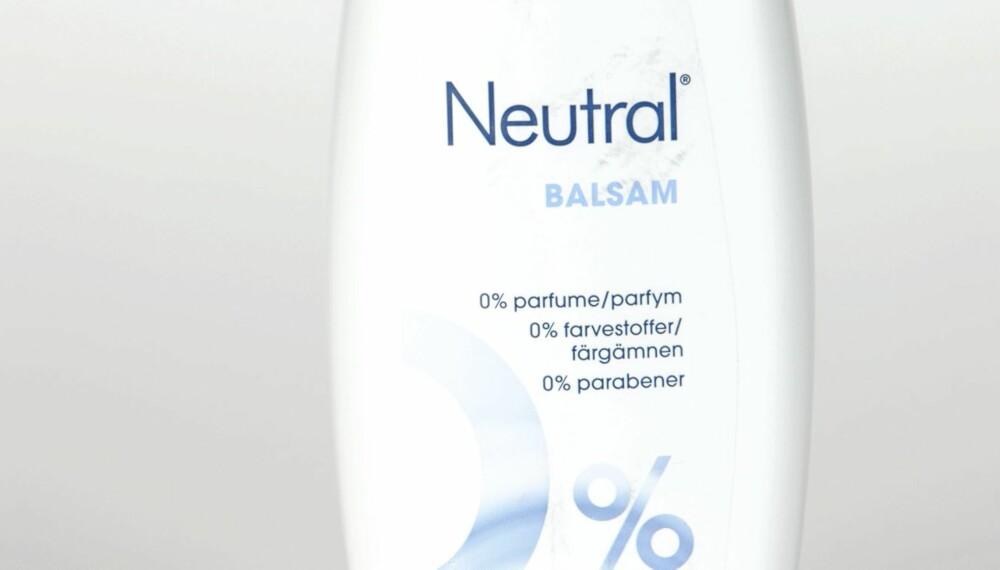 BALSAM: Neutral Balsam anbefales.