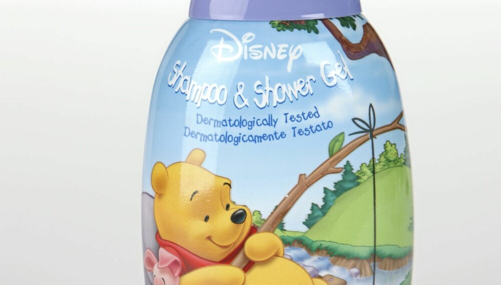 TIL HÅRET OG I DUSJEN: Disney Shampoo & Shower Gel Blueberry anbefales ikke.