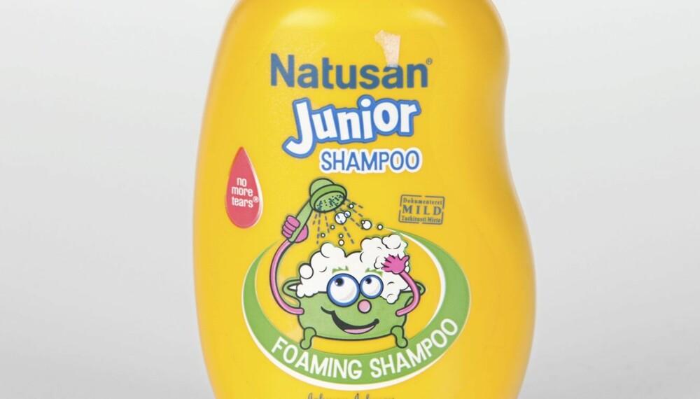 SJAMPO: Natusan Junior Foaming Shampoo anbefales ikke.