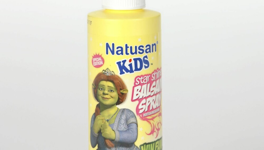 BALSAM SPRAY: Natusan Kids Star Shine Balsam Spray anbefales ikke