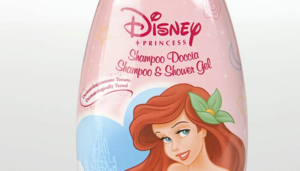 TIL HÅRET OG I DUSJEN: Disney Shampoo & Shower Gel Wild Rose anbefaes ikke.