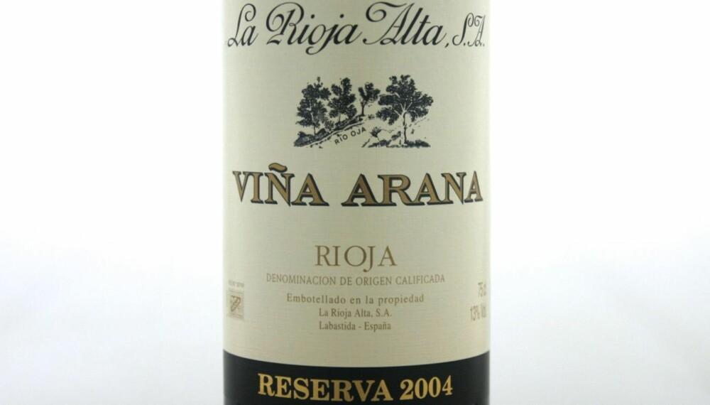 LAMMEVIN: Viña Arana Reserva 2004.