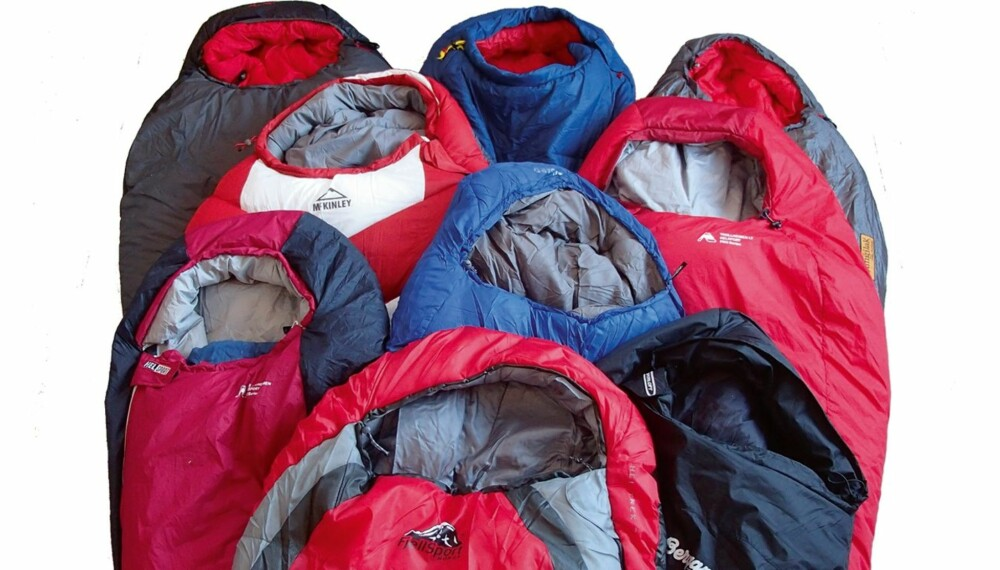 SOVEPOSER: Klikk.no og Villmarksliv har testet 8 soveposer for vår, sommer og høst.