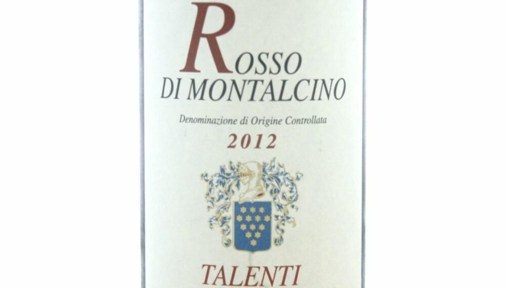 SOMMERFAVORITT: Talenti Rosso di Montalcino 2012.
