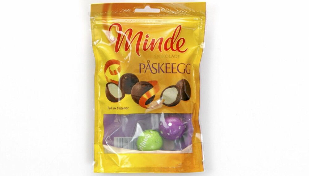 TEST: DinKost.no har sjekket næringsinnholdet i 25 gule og lilla poser med påskesnadder.