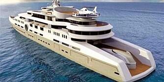 SKISSE: Det er sparsommelig med detaljer rundt verdens største yacht, men dette er i alle fall slik den er tenkt. SKISSE: 4Yacht