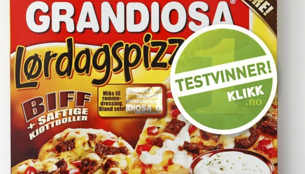 TESTVINNER: Grandiosa Lørdagspizza.