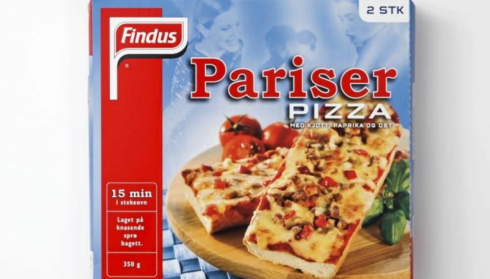 LAVT KALORIINNHOLD: Pariserpizza.