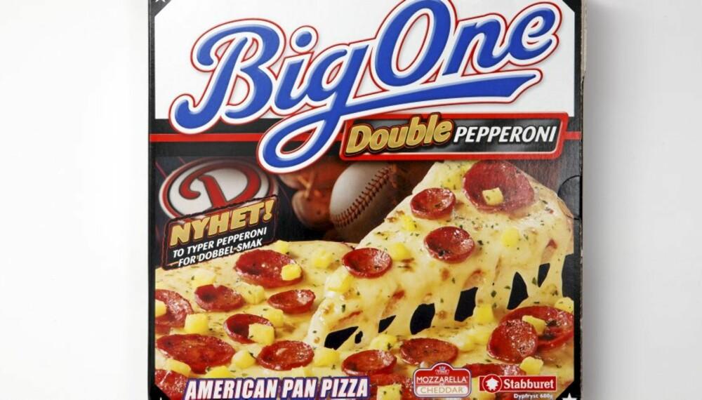 TERNINGKAST 4: Big One Double Pepperoni.