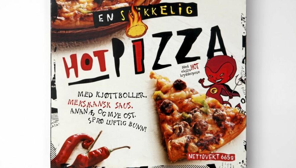 BRA PÅ PROTEINER: Hot Pizza.