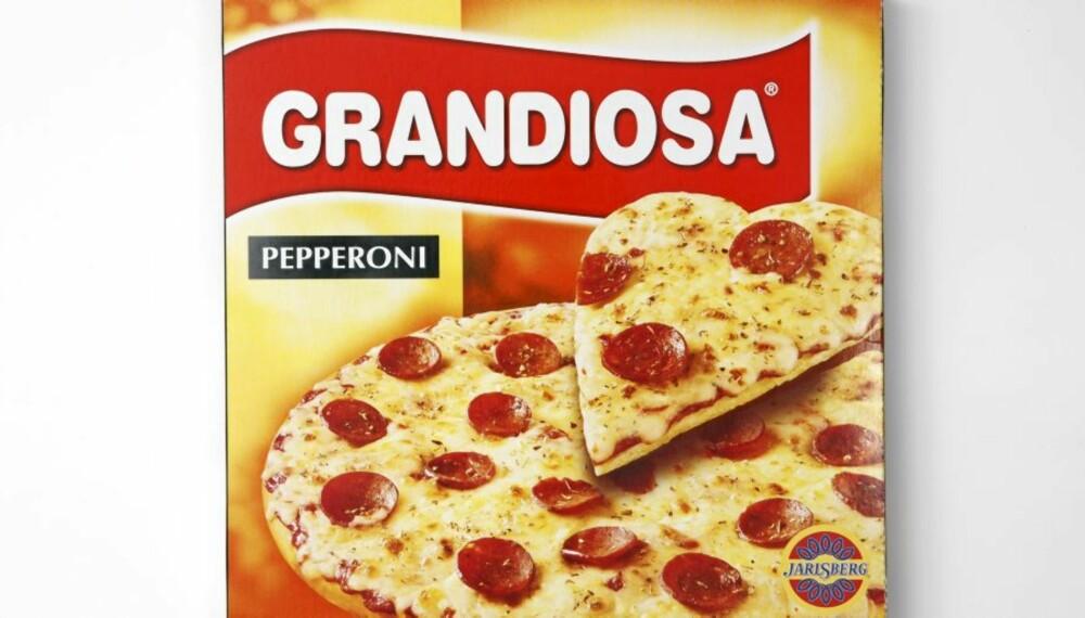 GRANDIOSA PEPPERONI: Får full pott for godt proteininnhold.