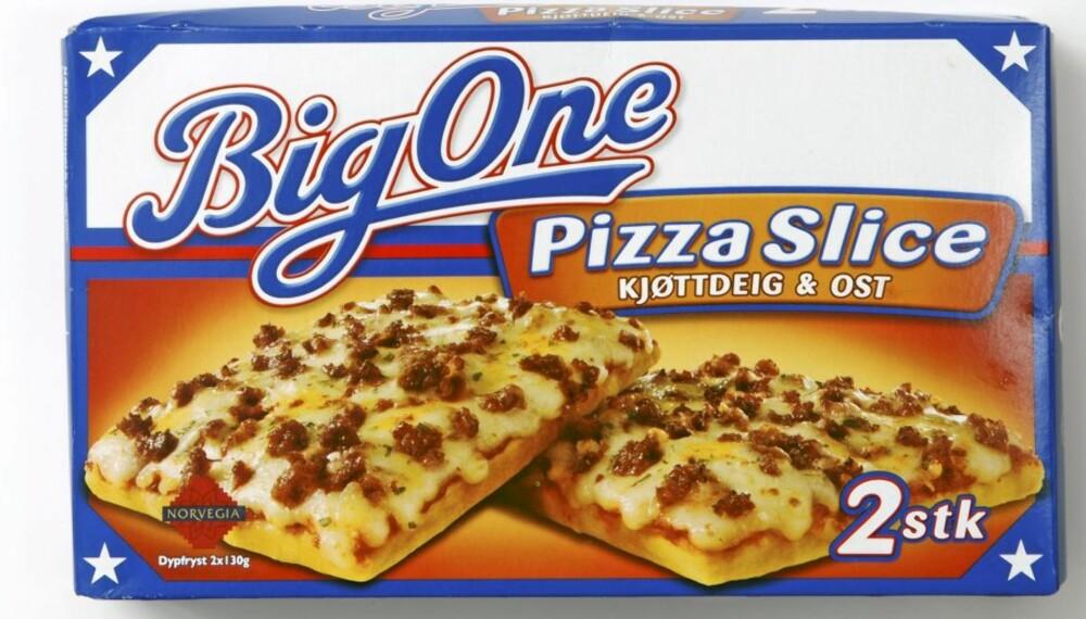 DÅRLIG VALG: Big One slice.