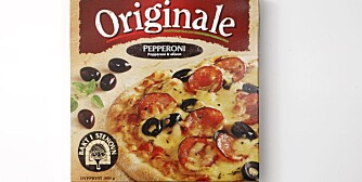 NULL POENG: Så dårlig som det kan blir for Pizza Originale Pepperoni. Testens absolutte taper.