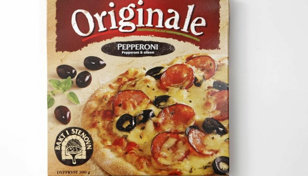 NULL POENG: Så dårlig som det kan blir for Pizza Originale Pepperoni. Testens absolutte taper.