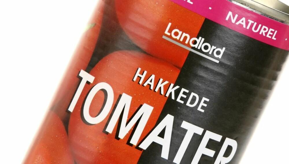 BEST PÅ SMAK: De hakkede tomatene fra Landlord kan minne litt om ketchup, men den var absolutt den beste på alt.