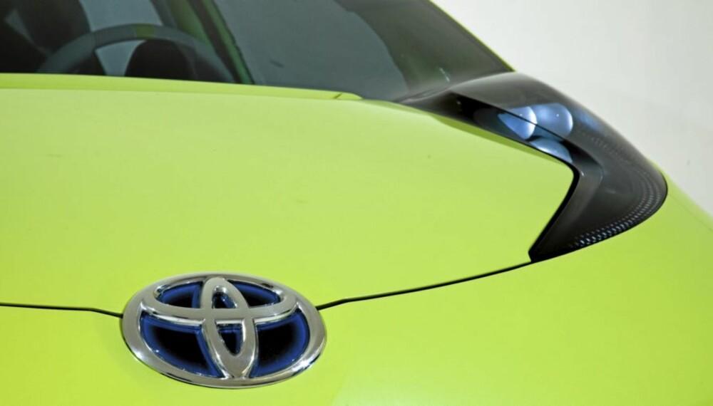 FÅ DETALJER: Vi vet foreløpig lite om Toyotas nye hybridbil. Men én ting er sikkert - den blir liten.