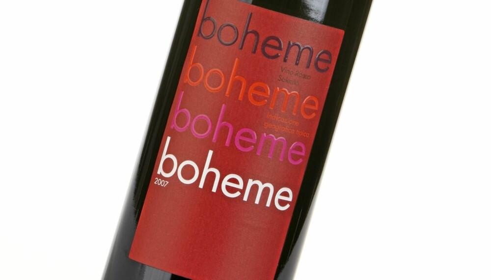 ANONYM: Boheme 2007 er en rødvin med lite fylde og anonym frukt i smaken.