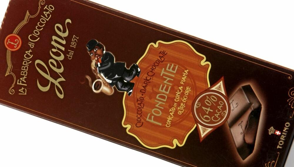 KAFFE: Leone Fondente dark chocolate 64 prosent er en sjokolade meed smak av mørke kakaobønner og kaffe.