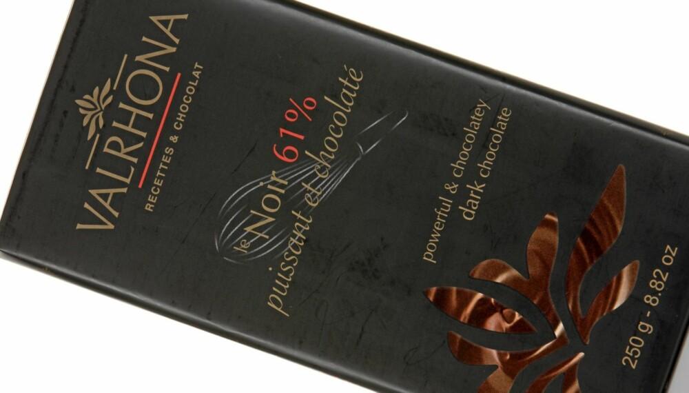 GREI SØDME: Valrhona le Noir 61 prosent er en sjokolade med grei bitterhet og sødme.
