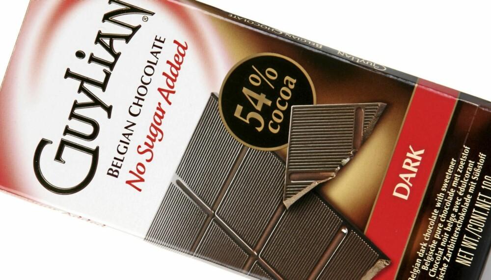 NOE KVALMENDE: Guylian Belgian Chocolate Dar 54 prosent er en sjokolade som er litt fet og kvalmende på smak.