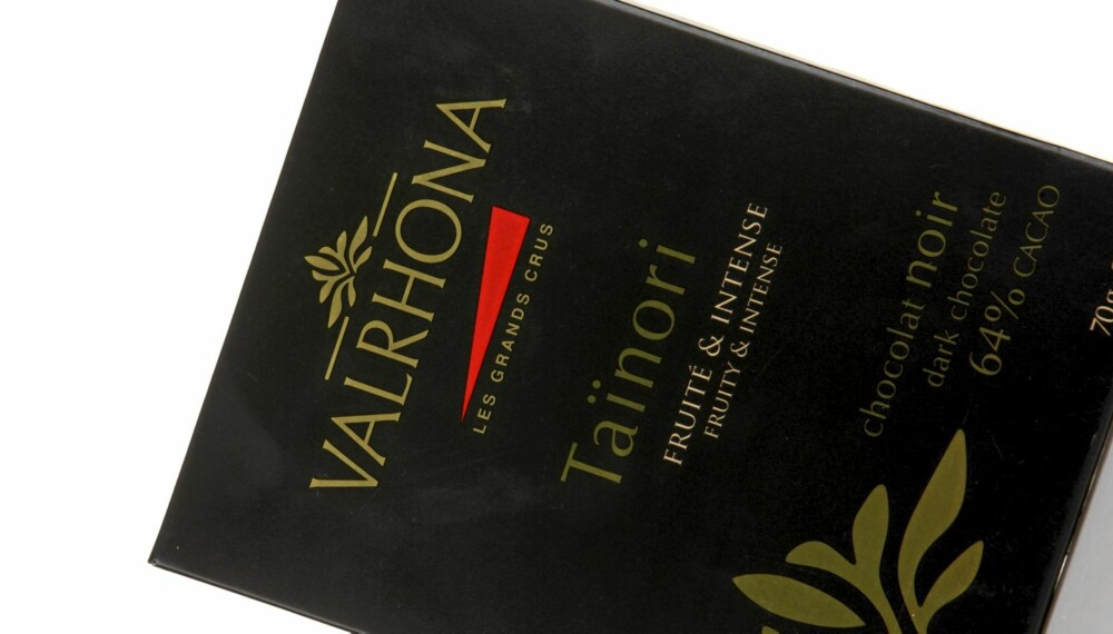 HELT OK: Valrhona Taïnori chocolate noir 64 prosent er en helt grei sjokolade, men ikke noe mer enn det.