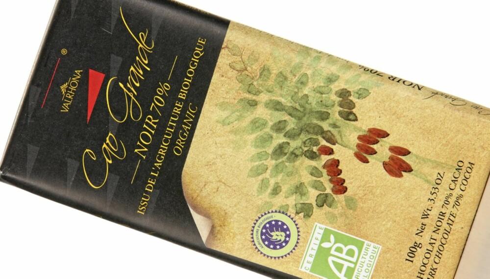 GOD BALANSE: Valrhona Cao Grande Noir 70 prosent er en sjokolade med god balanse og grei konsistens.