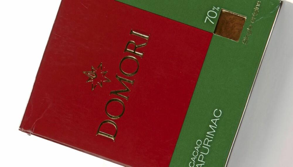 LITT KUNSTIG: Domori cacao Apurimac 70 prosent er en sjokolade med svakt hint av appelsin på smak. Litt kunstig.