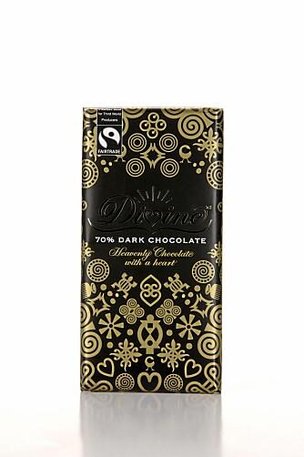 MILD: Sjokoladen fra Divine er mild på smak og skiller seg lite ut.