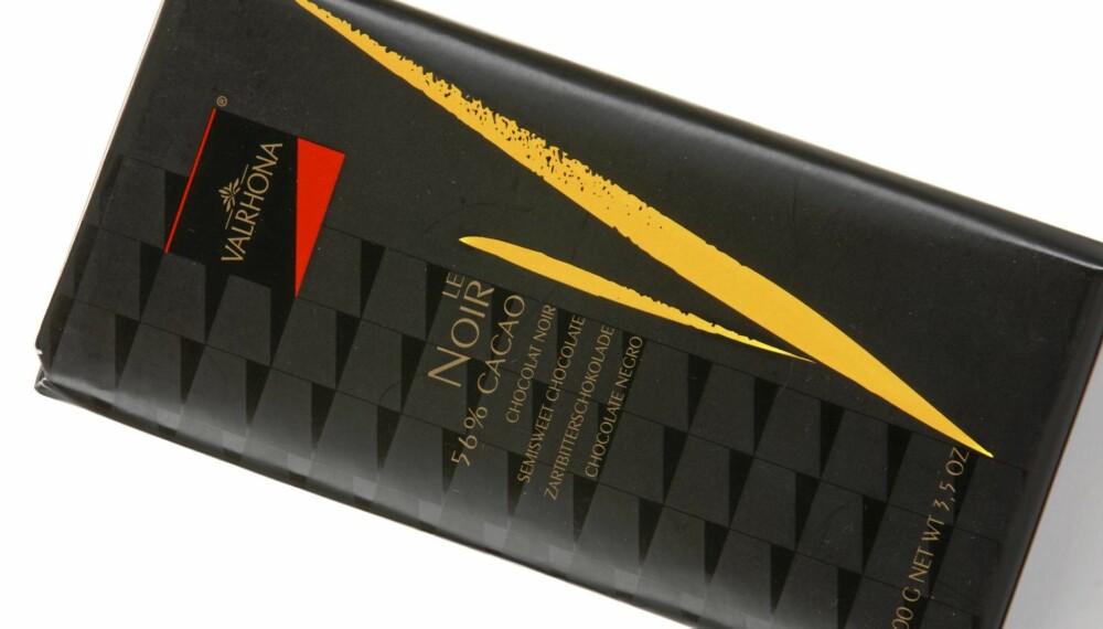 FYLDIG: Valrhona le Noir 56 prosent er en sjokolade som er fyldig og balansert.