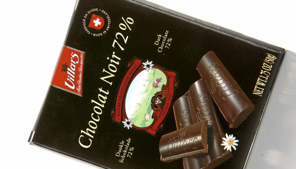FRUKTIGHET: Villars Chocolat noir 72 prosent er en sjokolade med god fruktighet.