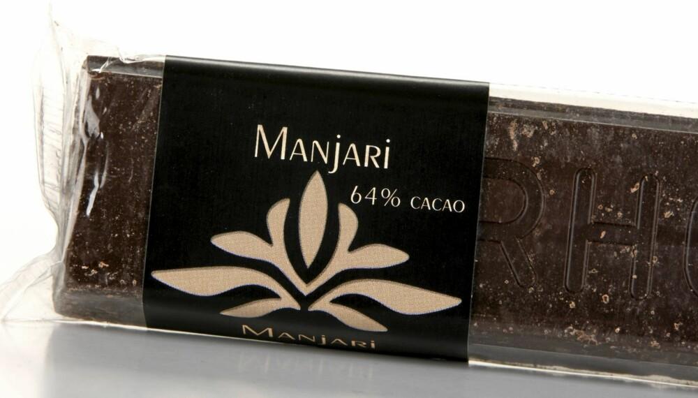 EN AV DE BESTE: Valrhona Manjari inneholder 64 prosent kakao og når helt til topps i denne testen av mørk sjokolade.