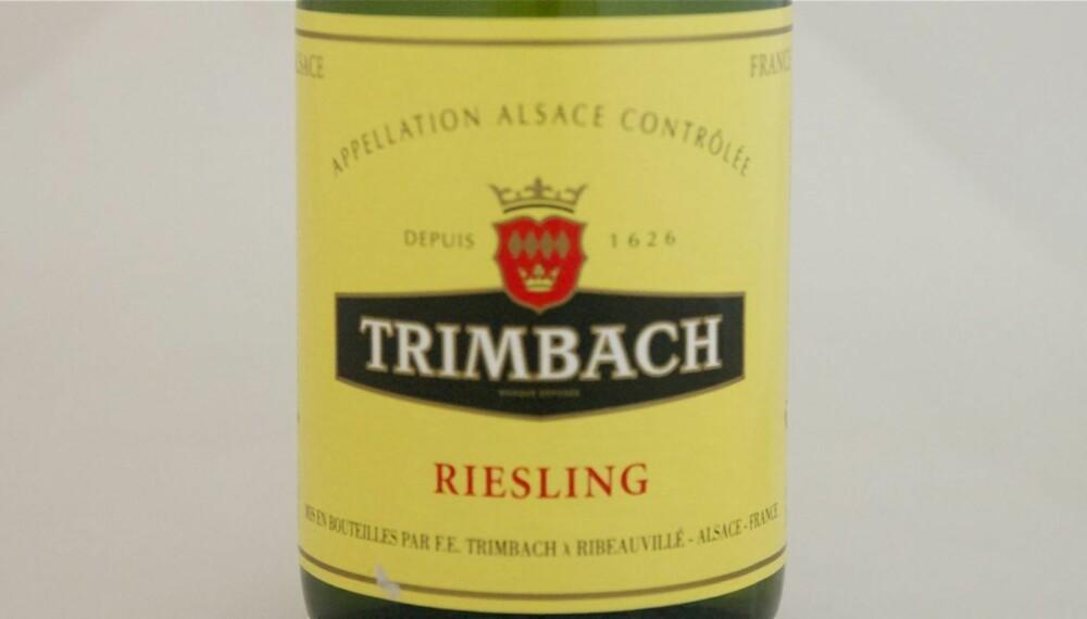 VIN TIL JULEMAT: Trimbach Riesling 2009.