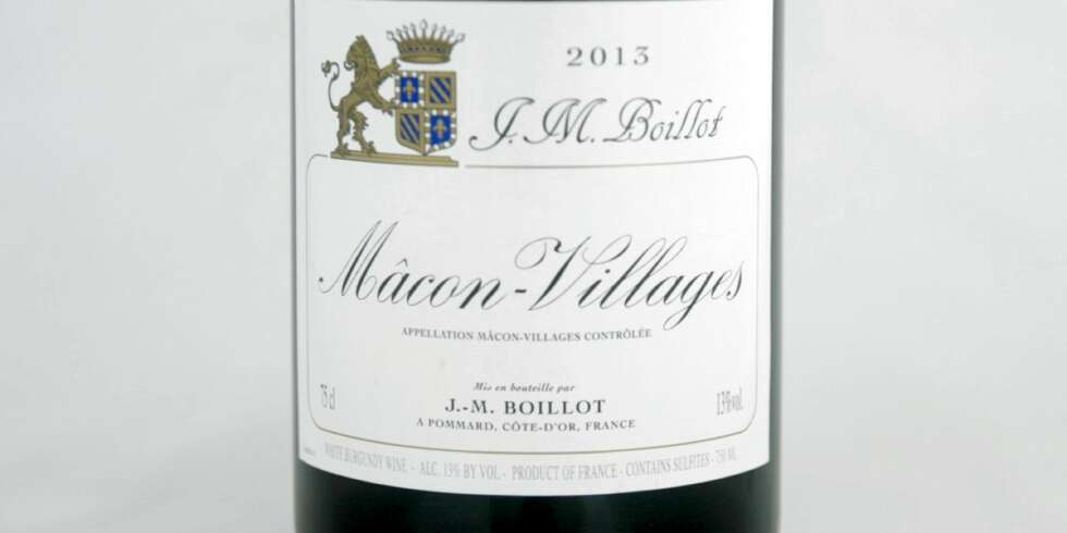 VIN TIL SOPP: J-M Boillot Mâcon-Villages 2013.