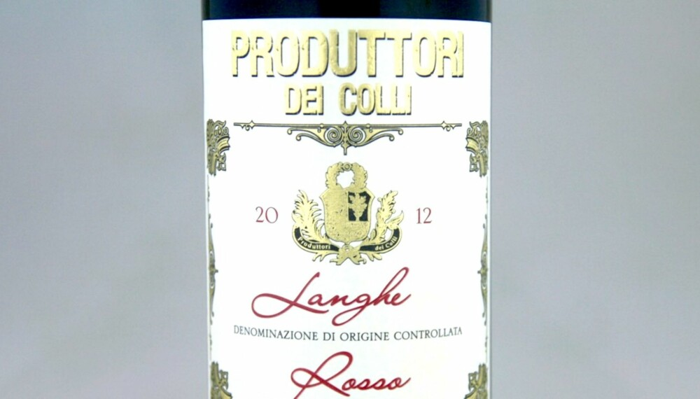 RØDVIN TIL RIBBE: Produttori dei Colli Langhe Rosso 2012.