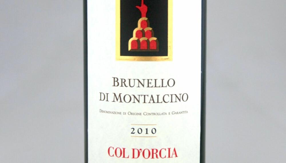 FLOTT JULEGAVE: Col d'Orcia Brunello di Montalcino 2010.