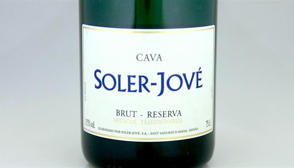 GODE BOBLER: Soler-Jové Cava Brut Reserva.