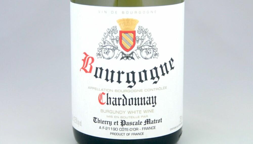TIL KALKUN: Matrot Bourgogne Chardonnay 2013.