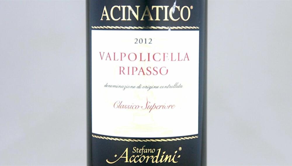 TIL KALKUN: Valpolicella Classico Superiore Acinatico Ripasso 2012.