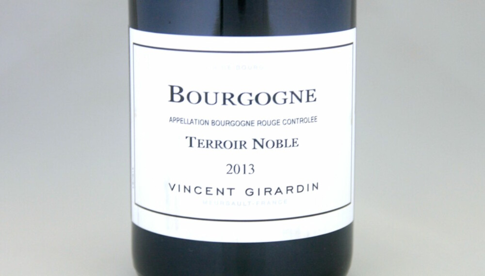TIL KALKUN: Girardin Bourgogne Terroir Noble Pinot Noir 2013.