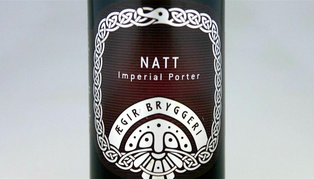 TOPP ØL: Ægir Natt Imperial Porter.