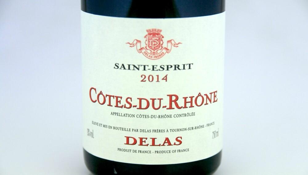 GOD GRILLVIN: Delas Saint-Esprit Côtes-du-Rhône 2014.