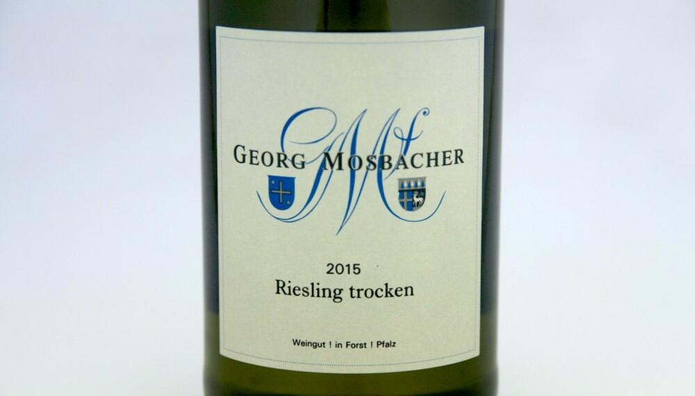 GOD GRILLVIN: Mosbacher Riesling Trocken 2015.